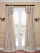 Ruched Solid Faux Silk Taffeta Curtains