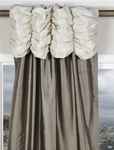 Ruched Valance Thai Silk Curtain Swatches