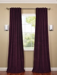 Signature Eggplant Blackout Velvet Curtain