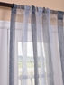 Signature Havannah Blue Striped Linen & Voile Weaved Sheer Curtain
