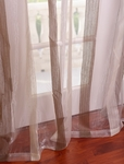 Signature Havannah Cocoa Striped Linen & Voile Weaved Sheer Swatch