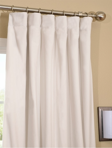 White Curtains With Grommets Natural Blackout Curtains
