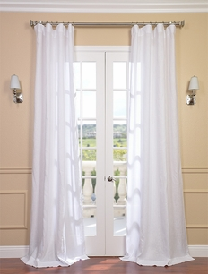 Signature Purity White French Linen Sheer Curtain