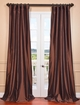 Solid Faux Silk Taffeta Curtains