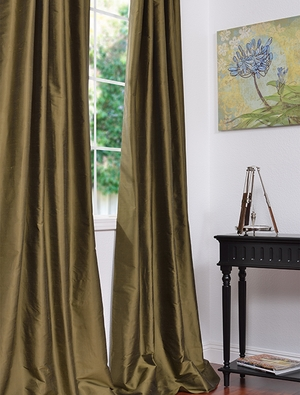 Solid Silk Curtains