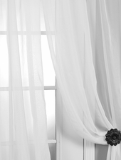 Solid White Voile Poly Sheer Swatch