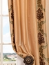 St. Tropez Gold Embroidered Faux Silk Swatch