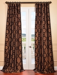 DEAL BUSTER: 2-1 Taurean Copper Flocked Faux Silk Curtain