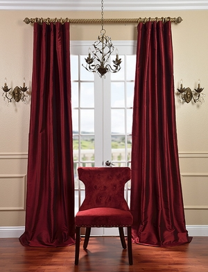 Thai Solid Silk Curtains