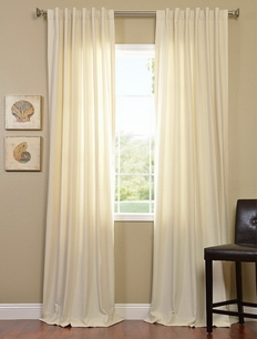 2-1 Vanilla Cotenza Pole Pocket With Back-Tabs Curtain