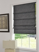 Velvet Blackout Roman Shades.