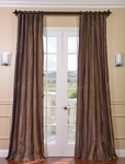 Verona Faux Silk Taffeta Stripe Curtain