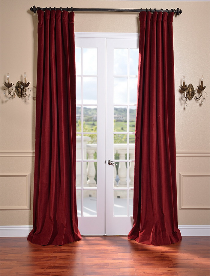 Antique Velvet Curtains