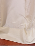 White Satin Silk Taffeta Swatch