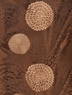 Zen Garden Chocolate Embroidered Faux Silk Swatch