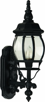 """Craftmade French Style 21.5"""" Outdoor Wall Lighting Fixture - Black Z320-05"""