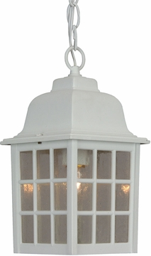 """Craftmade Grid Cage 11"""" Outdoor Pendant - White Z271-04"""