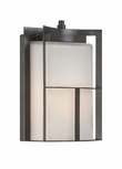 "Designers Fountain Braxton 11.25"" Outdoor Lighting Sconce - Charcoal 31822-CHA"