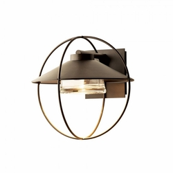 """Hubbardton Forge Halo Small 13.1"""" Halogen Outdoor Wall Mounted Light 302701"""