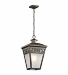 Kichler Park Row Bronze Outdoor Pendant Lighting - Traditional 49615OZ