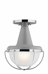 "Livingston 11.5"" Outdoor Flush Mount Ceiling Light By Feiss - Contemporary OL14013HGG-PN"