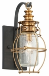 "Troy Little Harbor 12.5"" Exterior Sconce - Brass B3571"