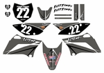KLX110 Graphics Kit (Gray) Arrow Series by Fast Times