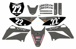 KLX110 Graphics Kit 2010-2016 (Gray) Clean Series by Fast Times