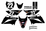 KLX110 Graphics Kit (Black) Clean Series by Fast Times