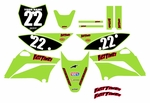 KLX110 Graphics Kit (Green) Clean Series by Fast Times 2010-2015
