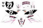 KLX110 Graphics Kit (Pink) Arrow Series by Fast Times