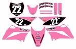 KLX110 Graphics Kit (Pink) Clean Series by Fast Times