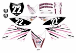 KLX110 Graphics Kit (Pink) Lines Series by Fast Times
