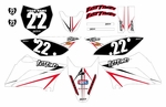 KLX110 Graphics Kit (White) Arrow Series by Fast Times