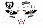 KLX110 Graphics Kit (White) Clean Series by Fast Times