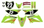 KLX110 Graphics Kit (Green) Arrow Series by Fast Times