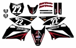 KLX110-PARTS.COM Graphics Kit (Black) Arrow Series