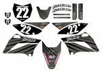 KLX110 Graphics Kit 2010-2014 (Gray) Lines Series by Fast Times