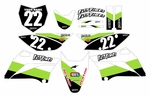 KLX110 Graphics Kit 2010-2014 (Green) Stripe Series by Fast Times