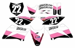 KLX110 2010-2014 Graphics Kit (Pink) Stripe Series by Fast Times