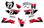KLX110 Graphics Kit 2010-2014 (Red) Stripe Series by Fast Times