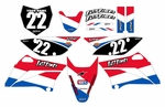 Stripe Series Fast Times KLX110 2010-2014 Graphics Kit (USA)