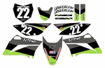 KLX110 Graphics Kit 2010-2016 (Black) Stripe Series by Fast Times