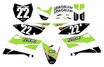KLX110 Graphics Kit 2010-2016 (White) Stripe Series by Fast Times