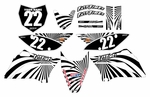 KLX110 Graphics Kit 2010-2014 (Black) Swirl Series by Fast Times