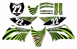 Swirl Series Fast Times KLX110 2010-2014 Graphics Kit (Green)
