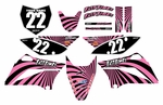 KLX110 2010-2014 Graphics Kit (Pink) Swirl Series by Fast Times