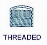1'' Cap-Threaded