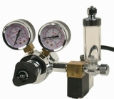 CO2 Regulator Deluxe - Dual Gauge, Solenoid, Bubble Counter
