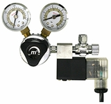 CO2 Regulator Deluxe - Dual Gauge with Solenoid
